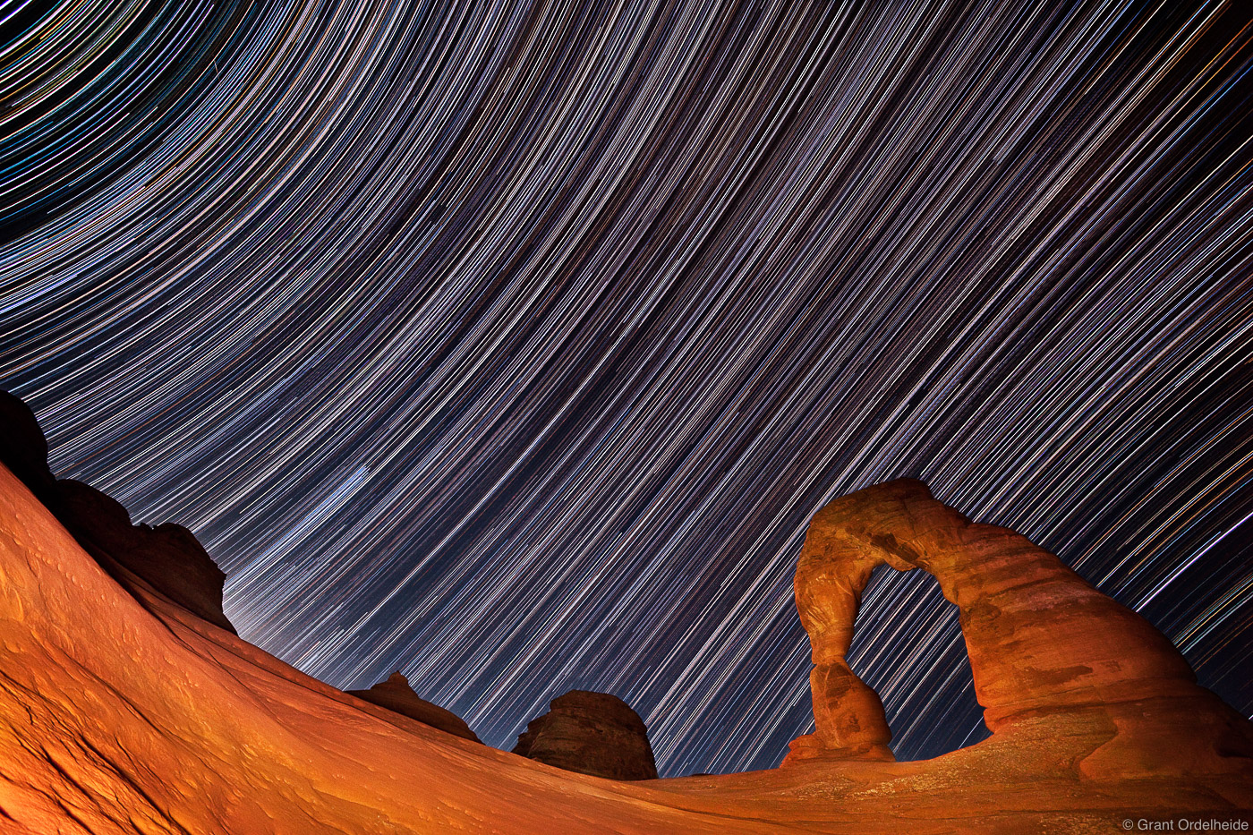 delicate, arch, stars, arches, national, park, utah, trails, iconic, , photo