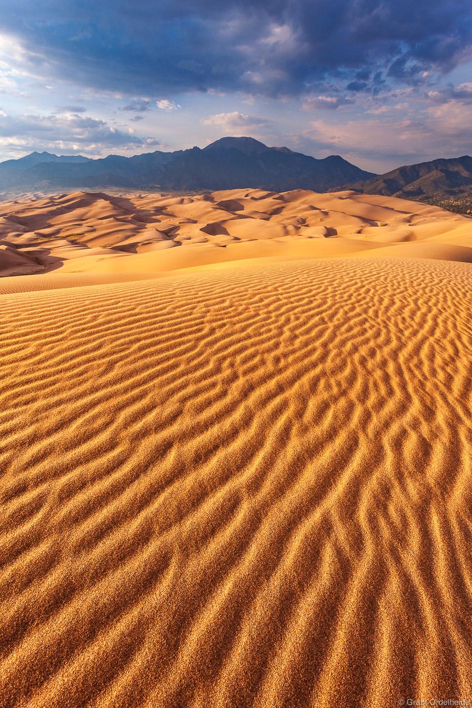 dune, ripples, great, sand, dunes, national, park, colorado, mt herard, sangre de cristos, mountains, photo