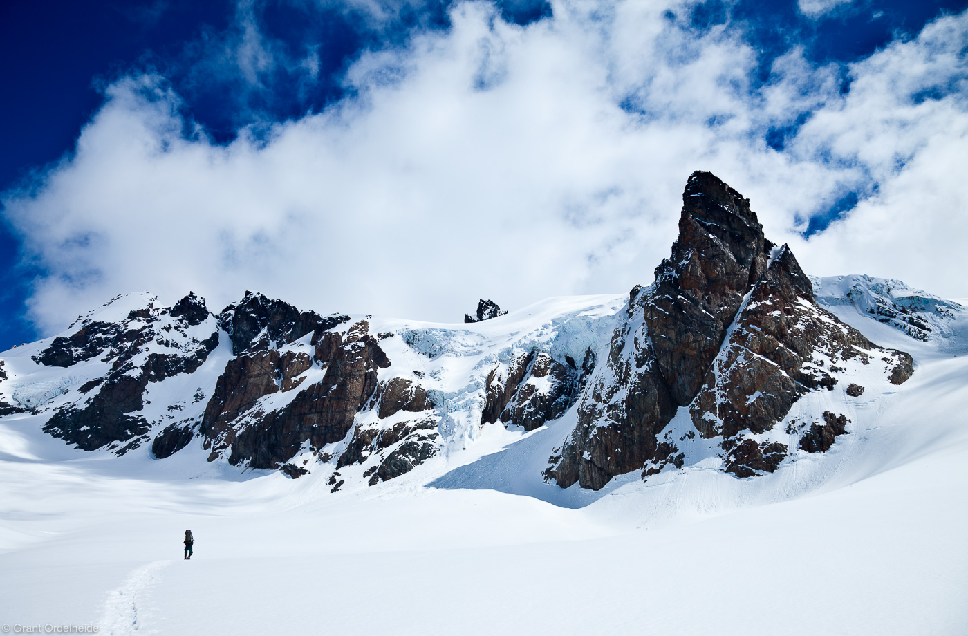 Peñon, glacier, remote, cerro, castillo, national, reserve, climber, photo