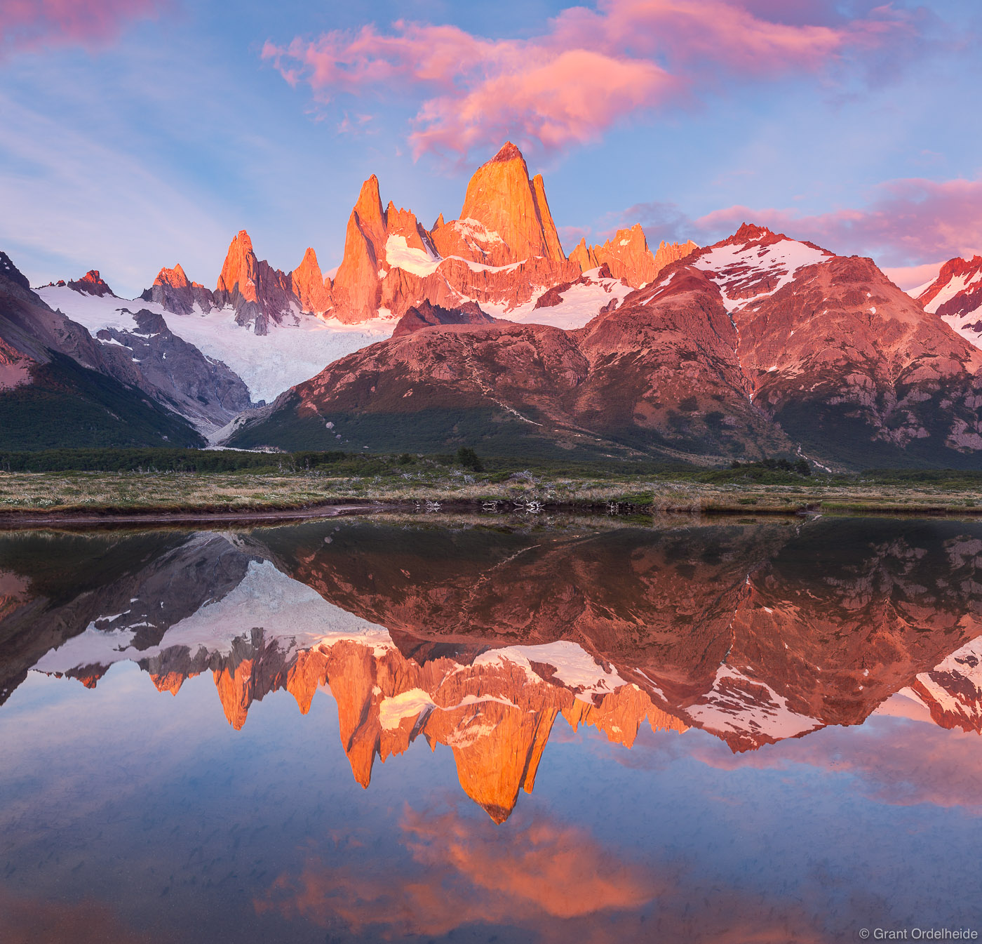 mount, fitzroy, reflection, El Chaltén, argentina, El Chaltén, pond,, photo