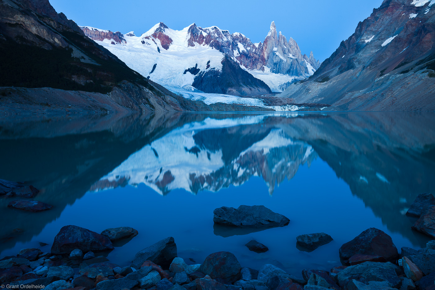 laguna, torre, reflection, el chalten, argentina, rare, windless, morning, beautiful, photo