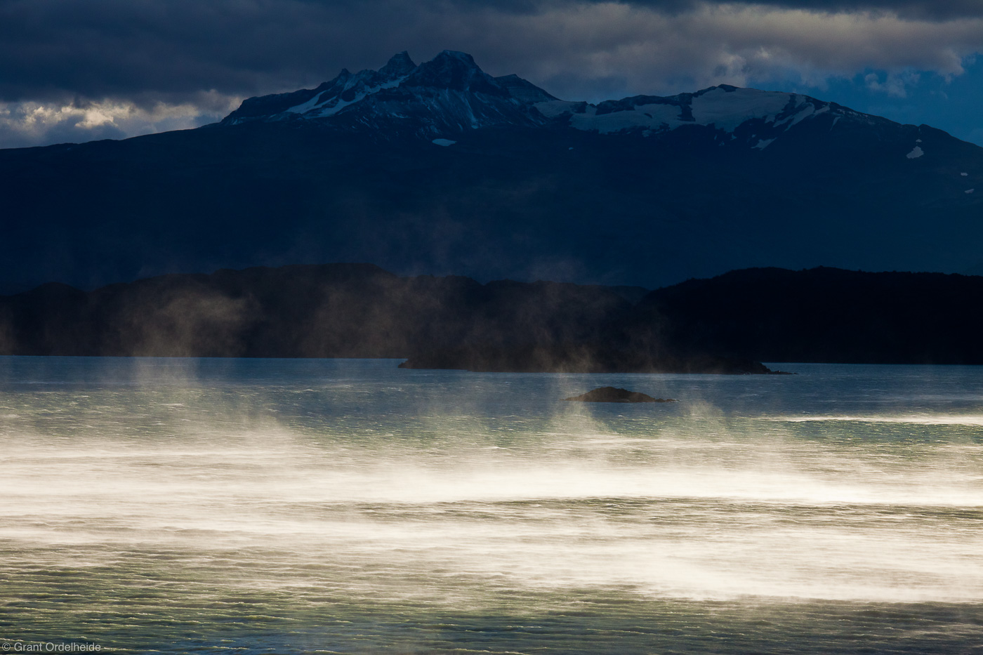 Nordenskjold, wind, water, massive, blown, lago, southern, patagonaian, region, magallanes, strong, torres, del, paine, , photo
