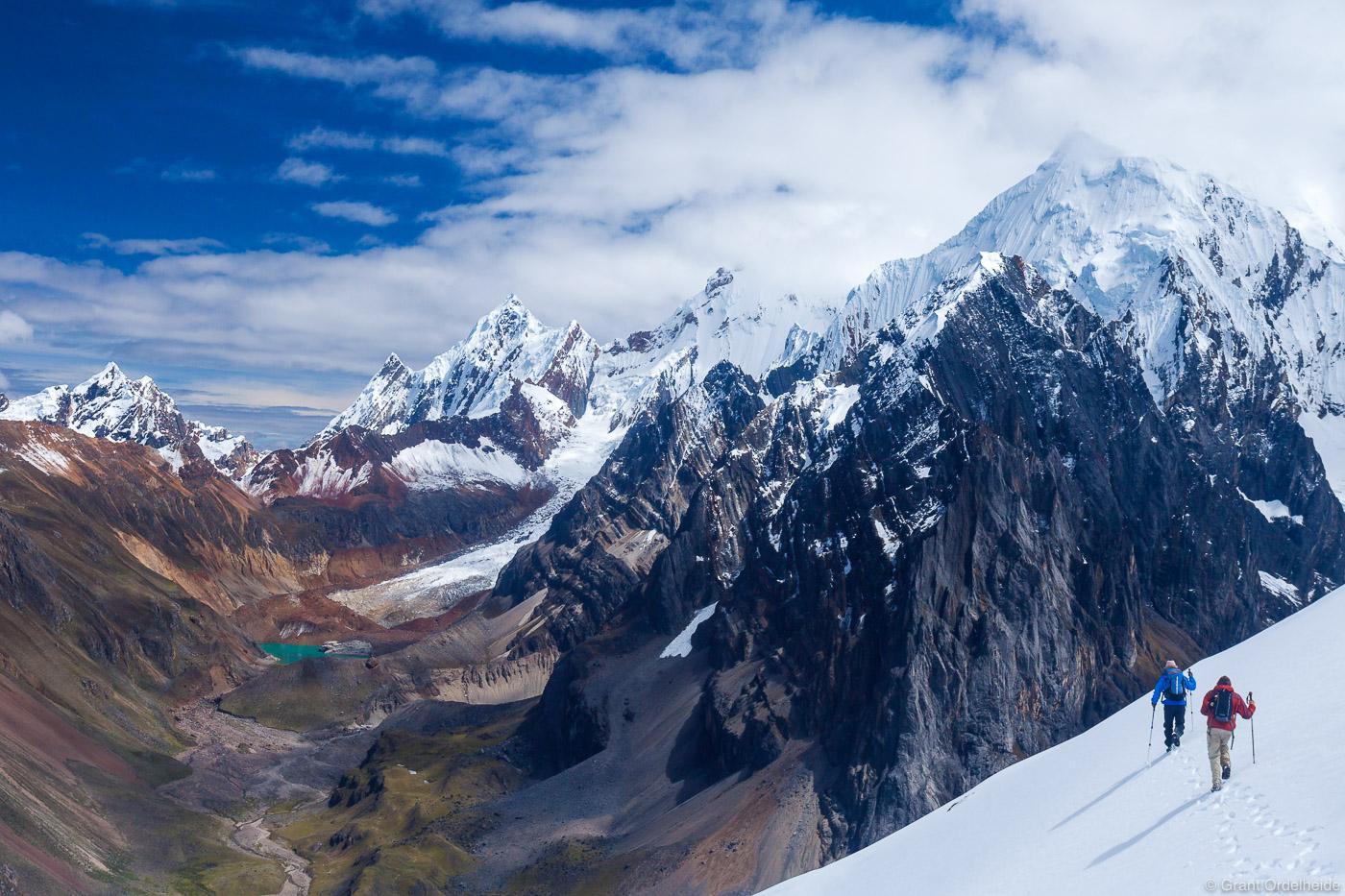 trekking, huayhuash, cordillera, huaraz, peru, high, passes, circuit, photo