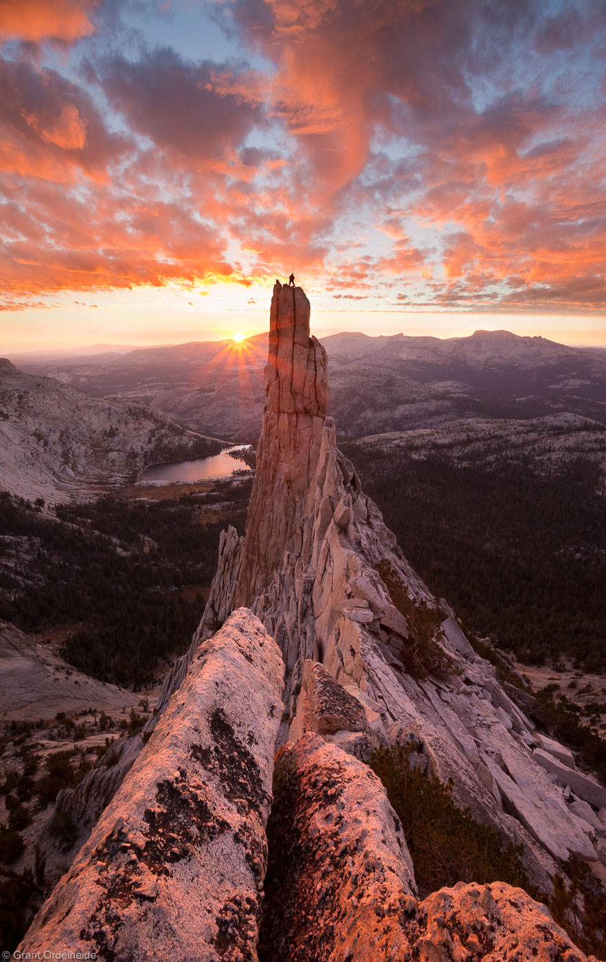 eichorn, pinnacle, sunset, yosemite, national, park, california, usa, climber, climbing, granite, tower, cathedral, peak, photo