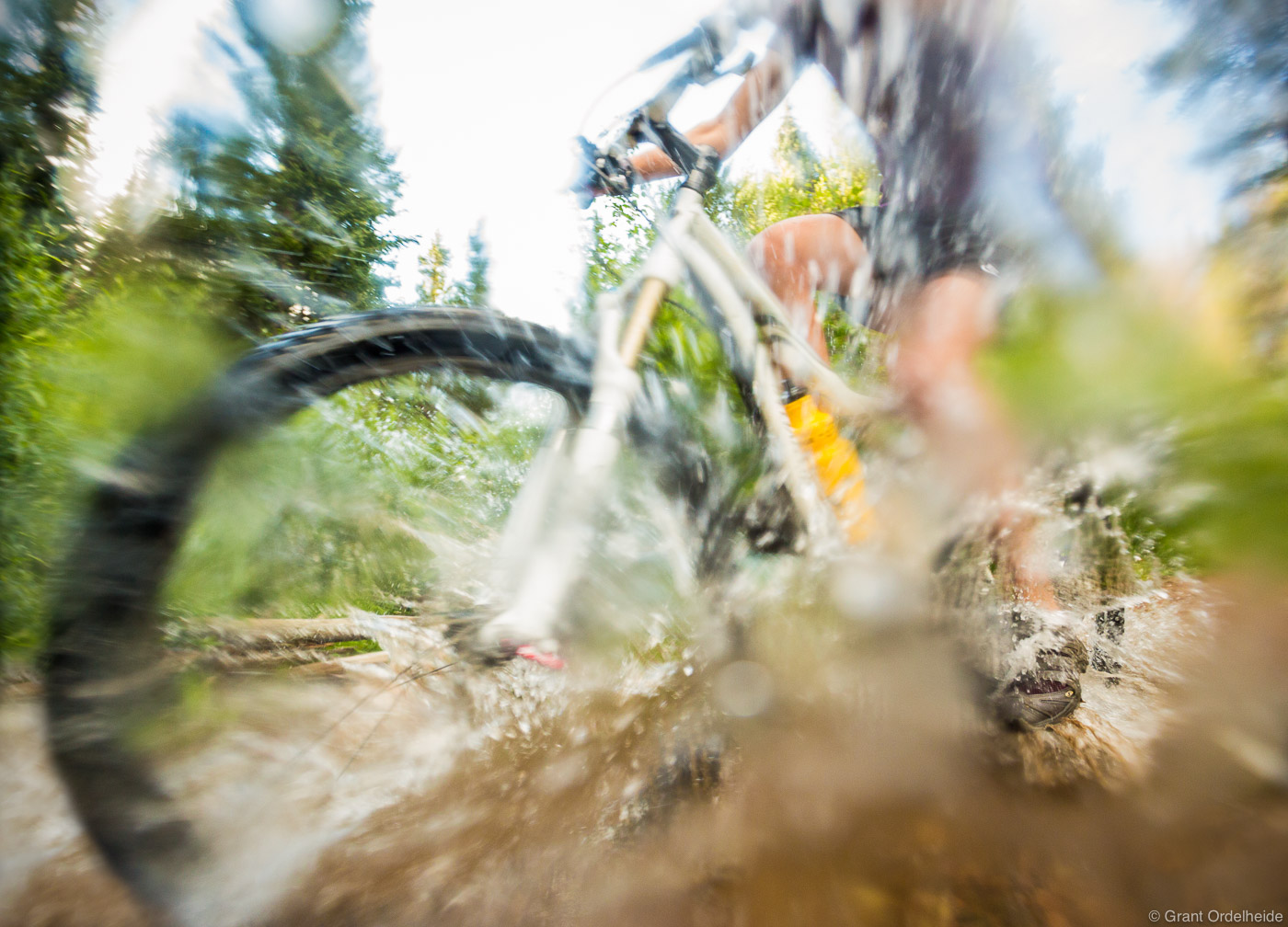 mountain, bike, splash, winter, park, colorado, usa, stream, trail, town, photo