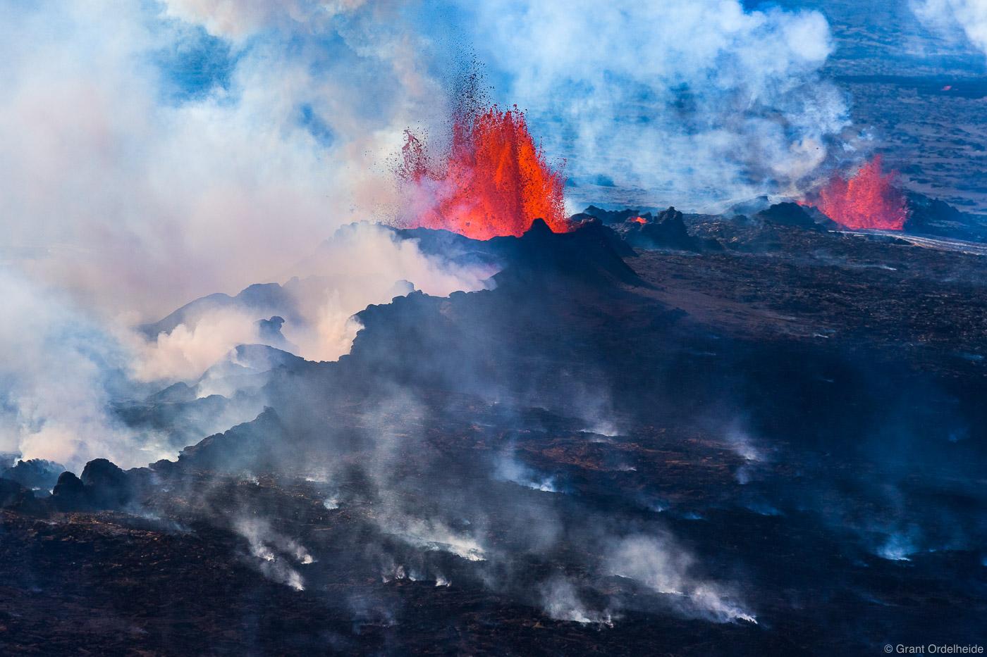 lava, hot, fields, vatnajökull, iceland, eruption, steam, fissure, bardarbunga, volcano, holuhraun, , photo