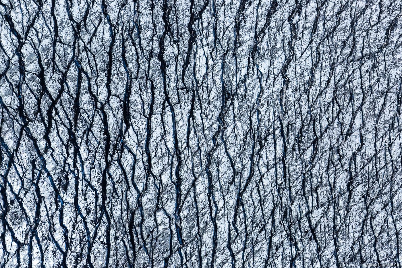 glacier, abstract, vatnajökull, cravases, iceland, aerial, pattern, , photo