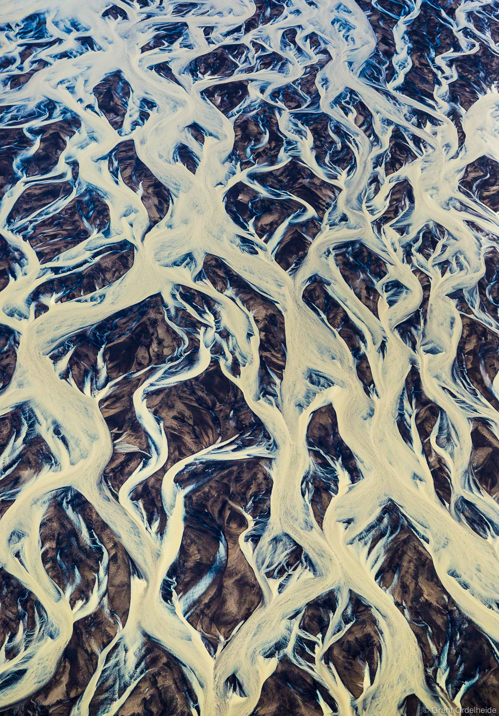 aerial, rivers, iceland, abstract, intertwining, glacial, , photo