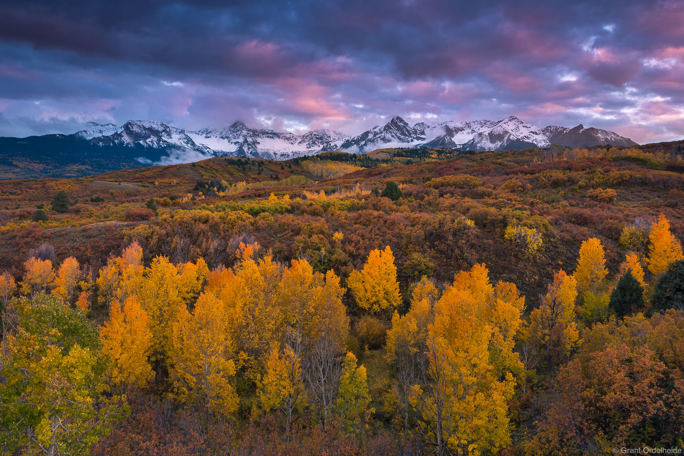 dallas, divide, ridgway, colorado, autumn, sunset, photo