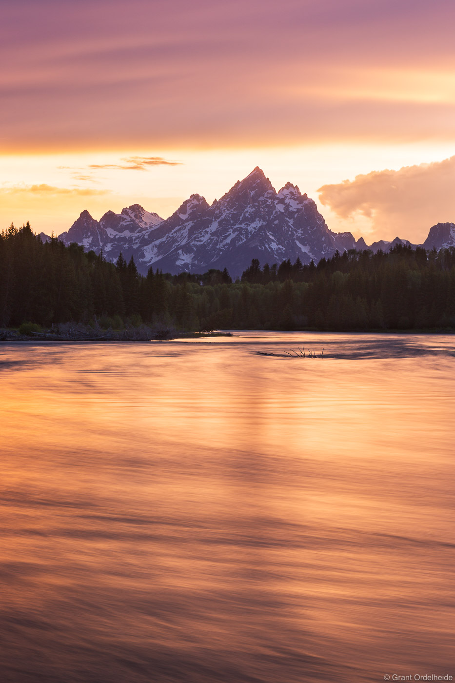 snake, river, sunset, grand, teton, national, park, wyoming, usa, tetons,, photo
