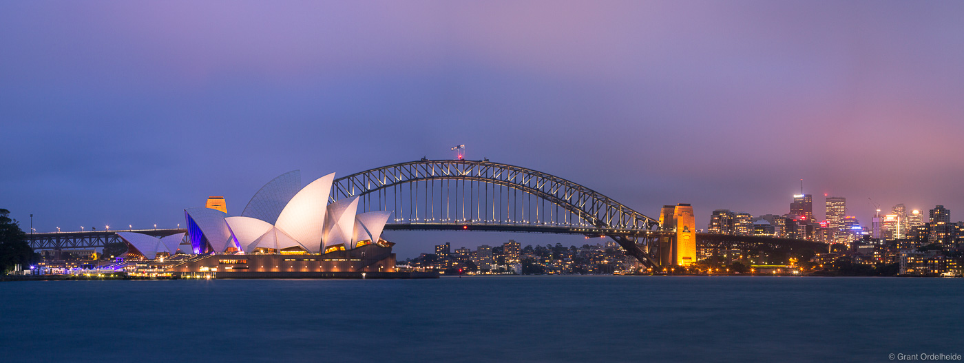 sydney, harbor, panorama, australia, dusk, opera, house, harbor, bridge, , photo