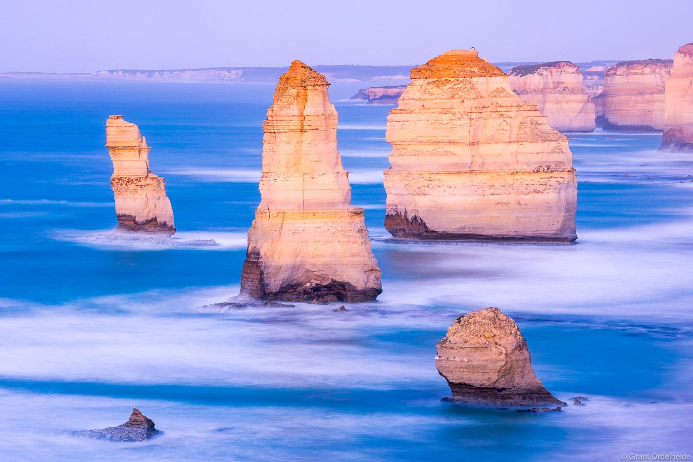 apostles, dawn, victoria, australia, early, morning, view, iconic, twelve, great, ocean, road,, photo