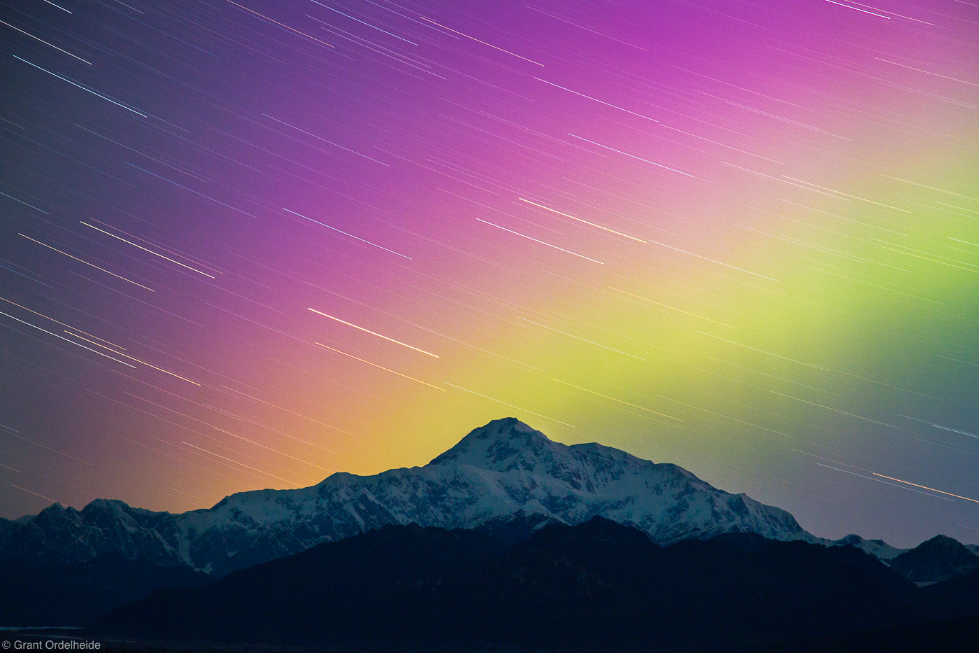 denali, aurora, national, park, alaska, usa, star, trails, borealis, north, america, tallest, peak,, photo