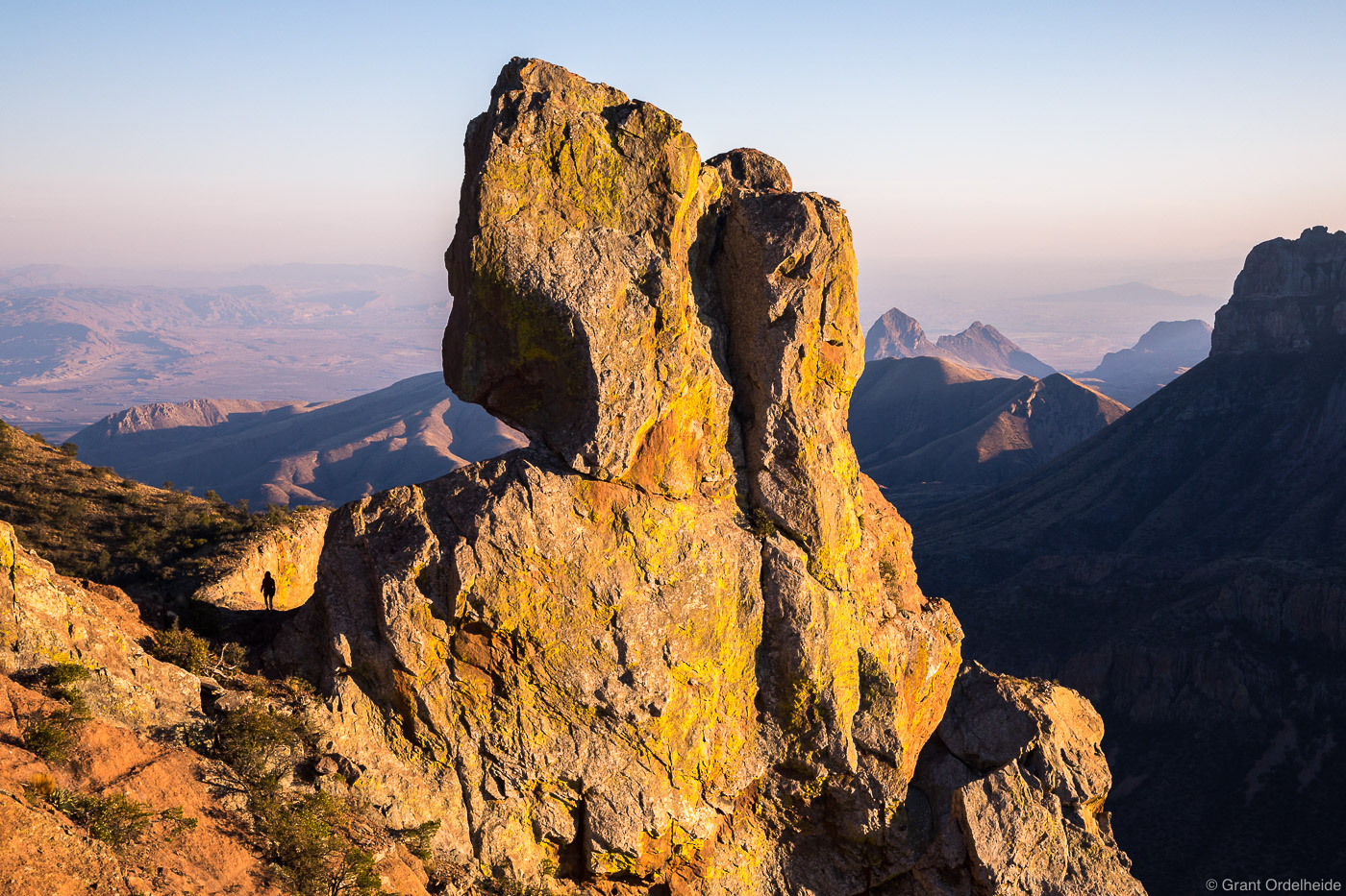 lost, mine, hiker, big, bend, national, park, texas, usa, summit, chisos, mountains, photo