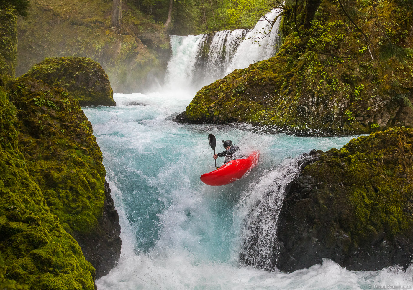 chaos, white, salmon, washington, kayaker, running, river, little, photo