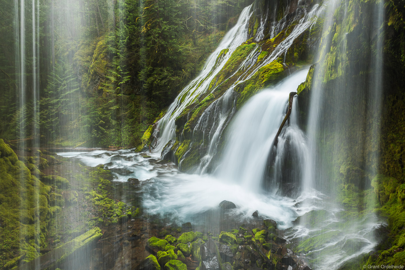 behind, panther, creek, falls, carson, washington, Columbia, river, gorge, state
