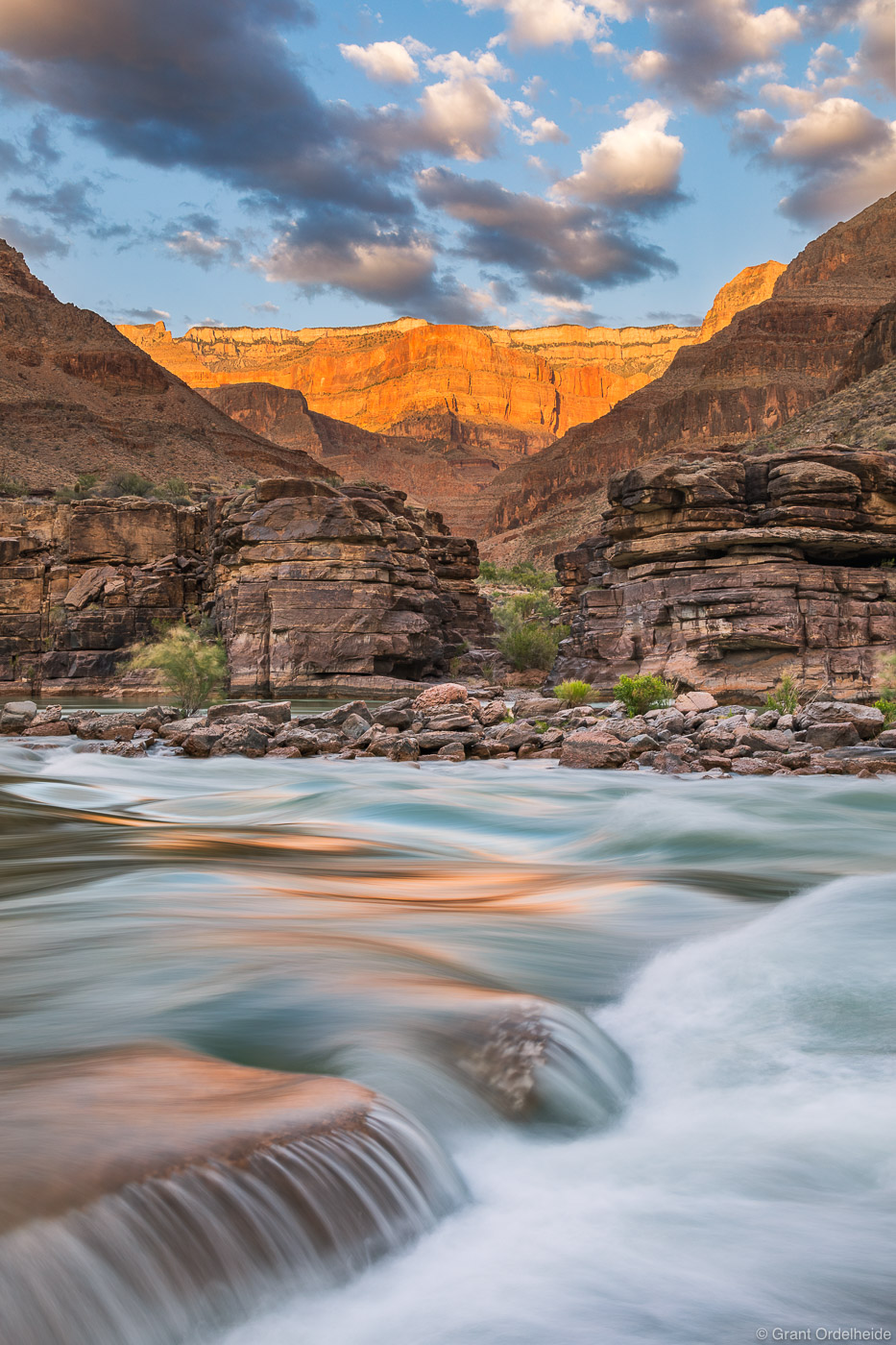 river, rim, grand, canyon, national, park, arizona, view, colorado, layers, rock, photo