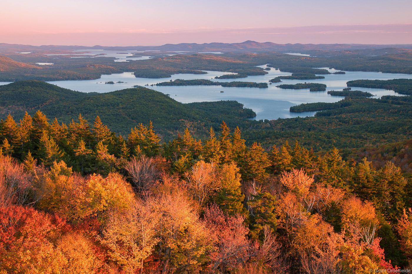 mount, morgan, holderness, new hampshire, autumn, sunset, squam, lake, summit, , photo