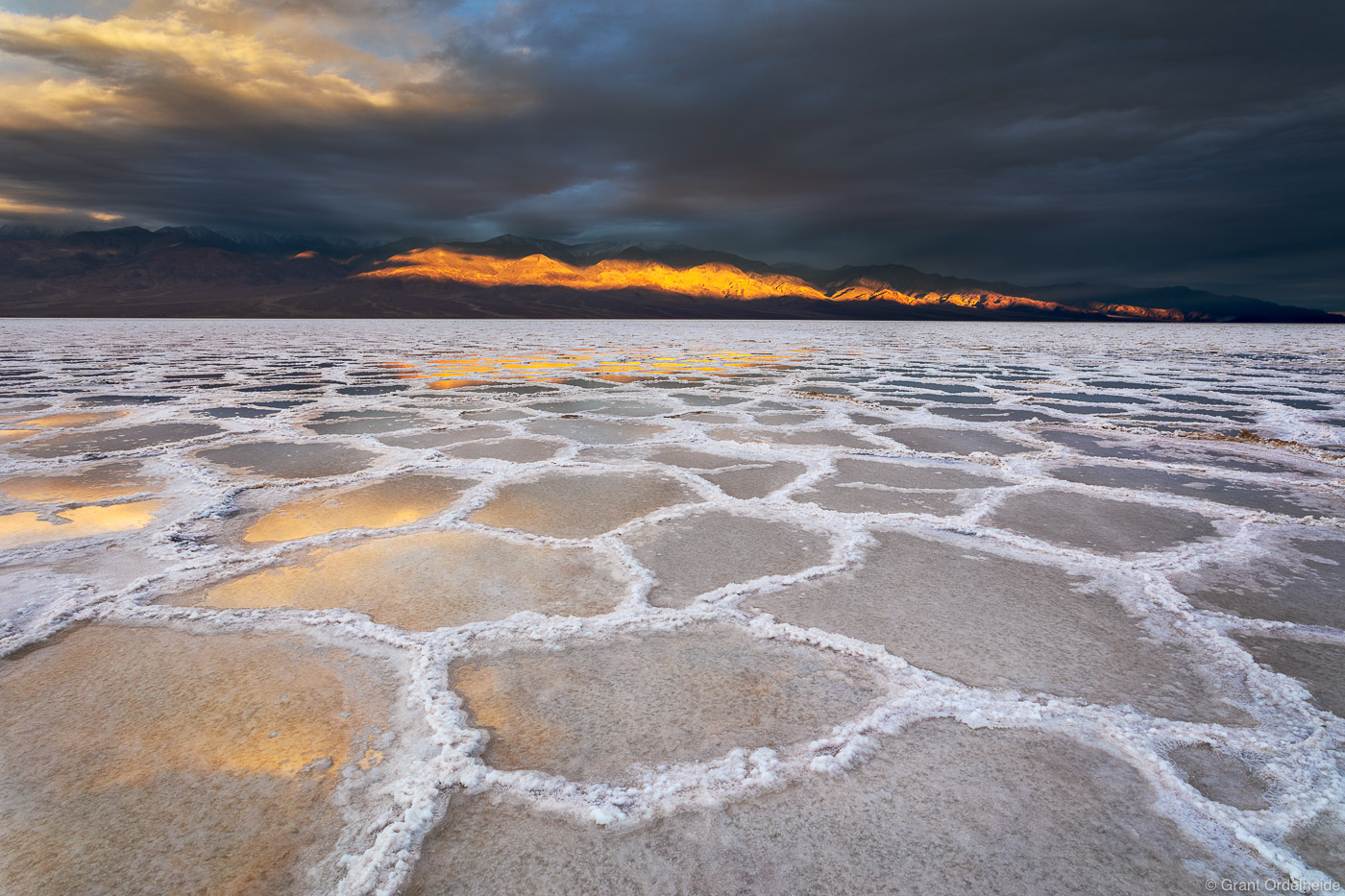 badwater, sunrise, death valley, national park, California, stormy, basin, lowest point, north america, photo