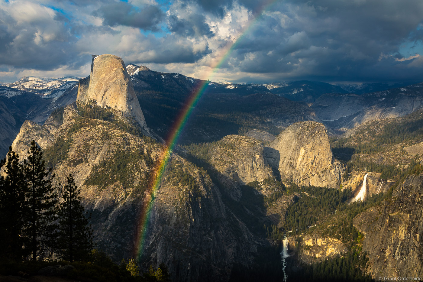 California, Half Dome, rainbow, yosemite, national park, vernal falls, nevada falls, , photo