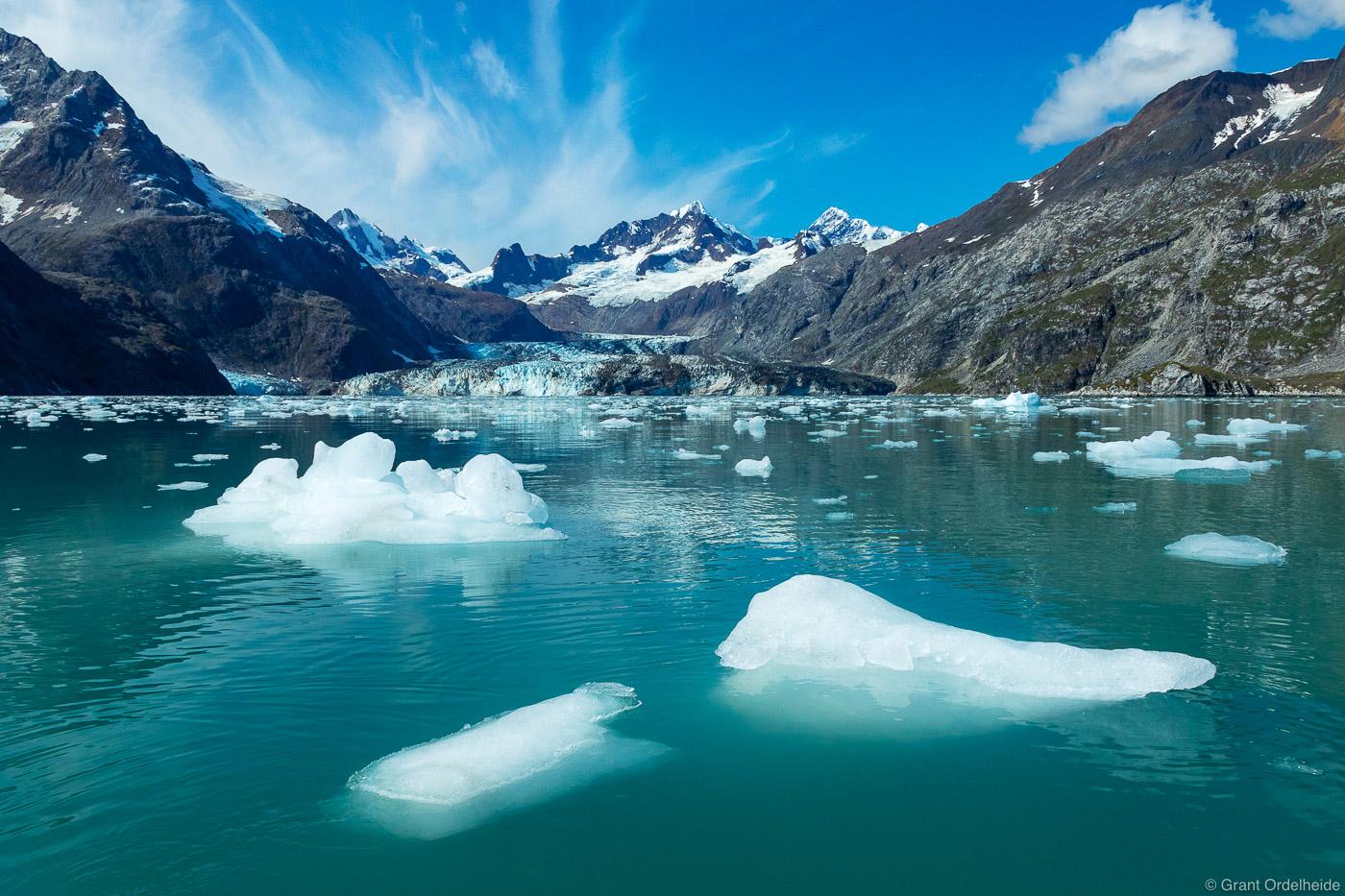 johns hopkins, inlet, glacier, bay, national, park, icy, waters, alaska, photo