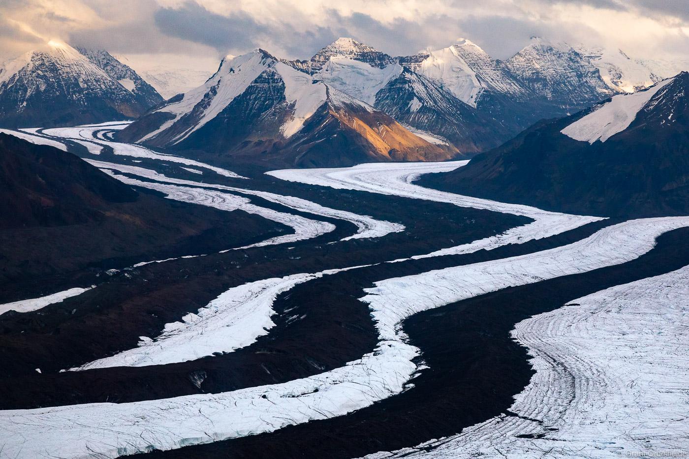wrangell, st. elias, national, park, alaska, aerial, view, glaciers, , photo