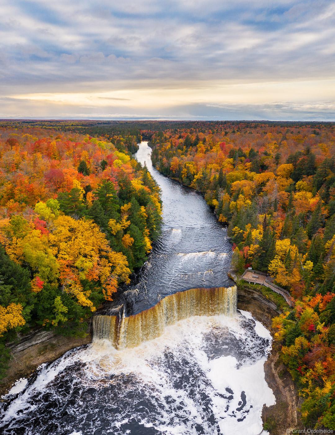 tahquamenon, falls, state, park, michigan, upper, height, autumn, upper, peninsula, photo