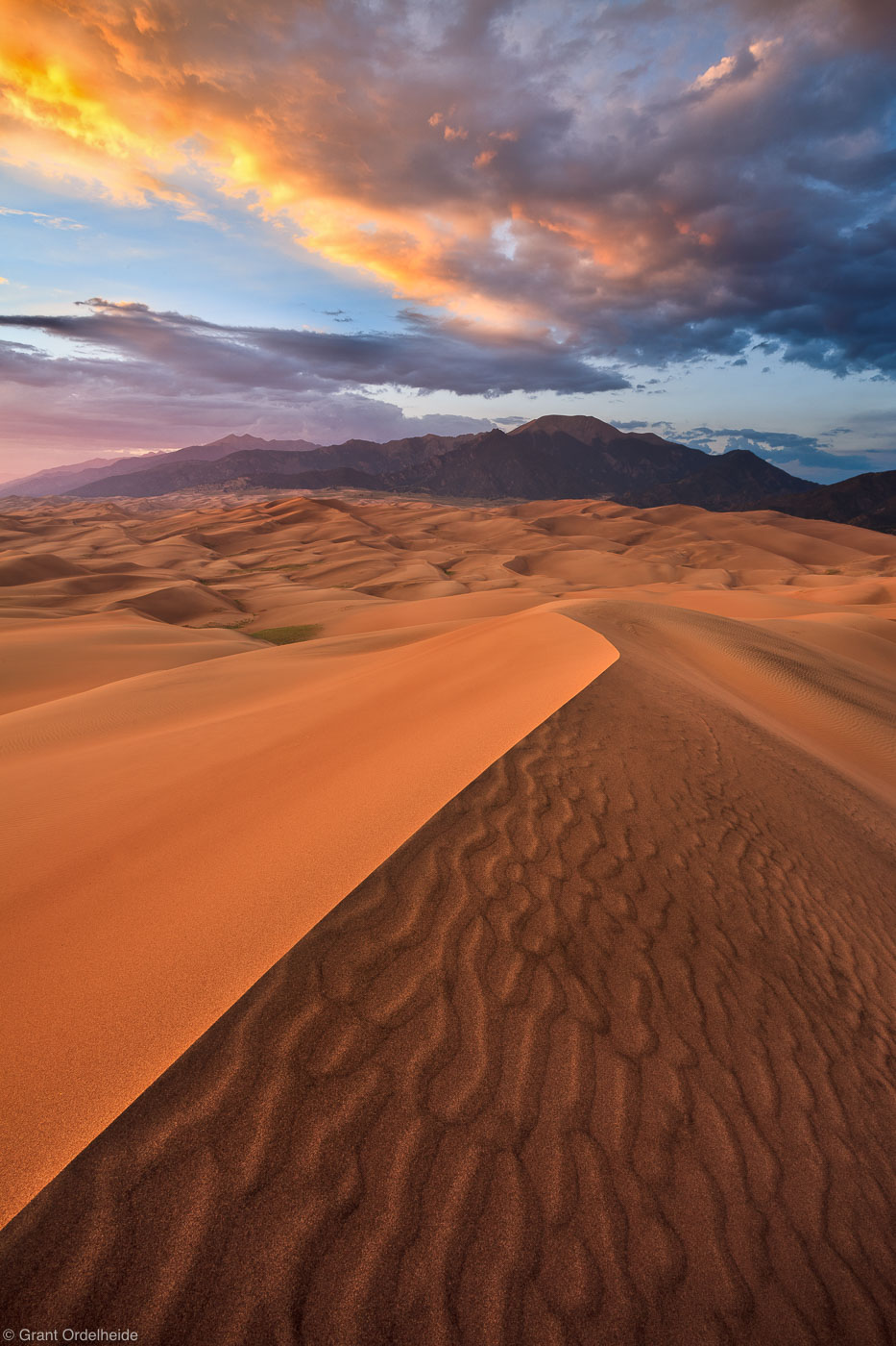 sand, dunes, sunset, great, national, park, colorado, north, america, largest, alamosa, colorado, photo