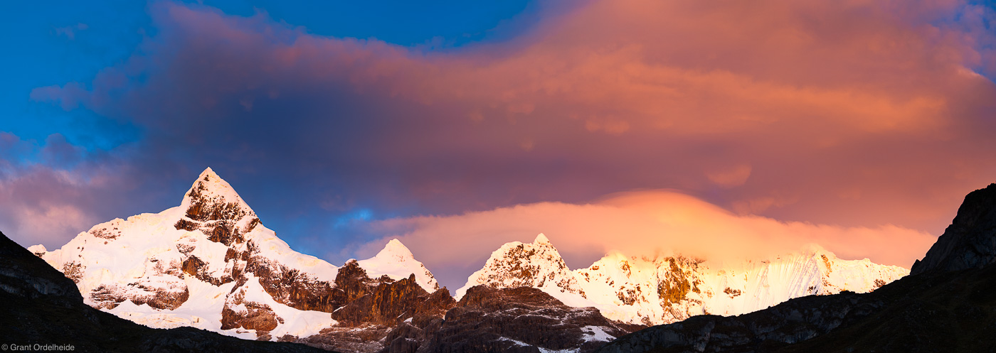 huayhuash, sunrise, cordillera, huaraz, peru, dramatic, , photo