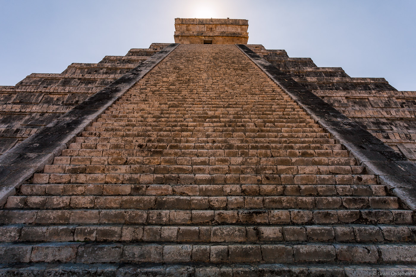 This historic structureknown as El Castillo, was built with extreme precision so that on the equinox a snake is made by...