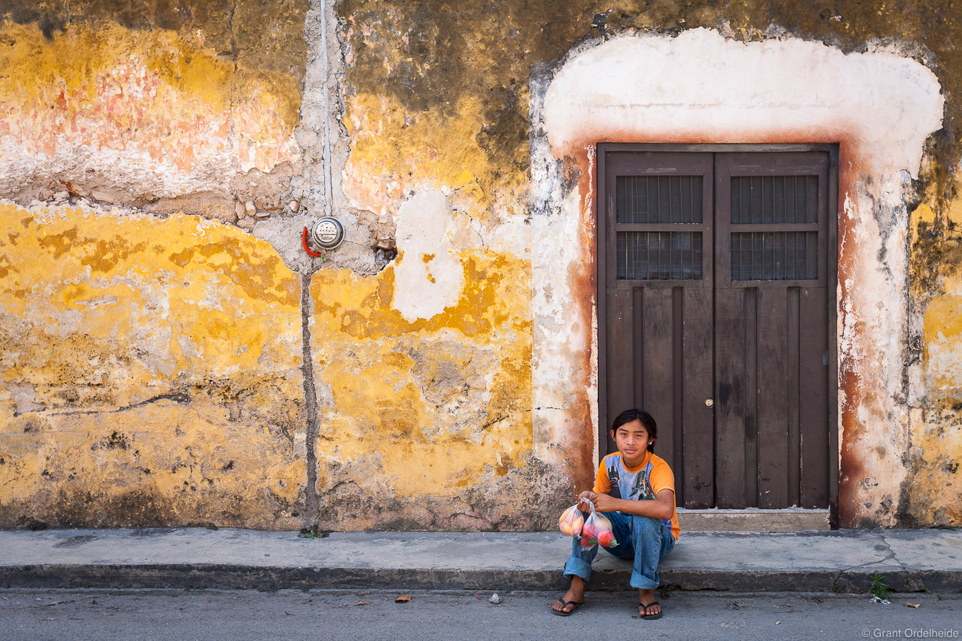 A young boy in Izamal Mexico.