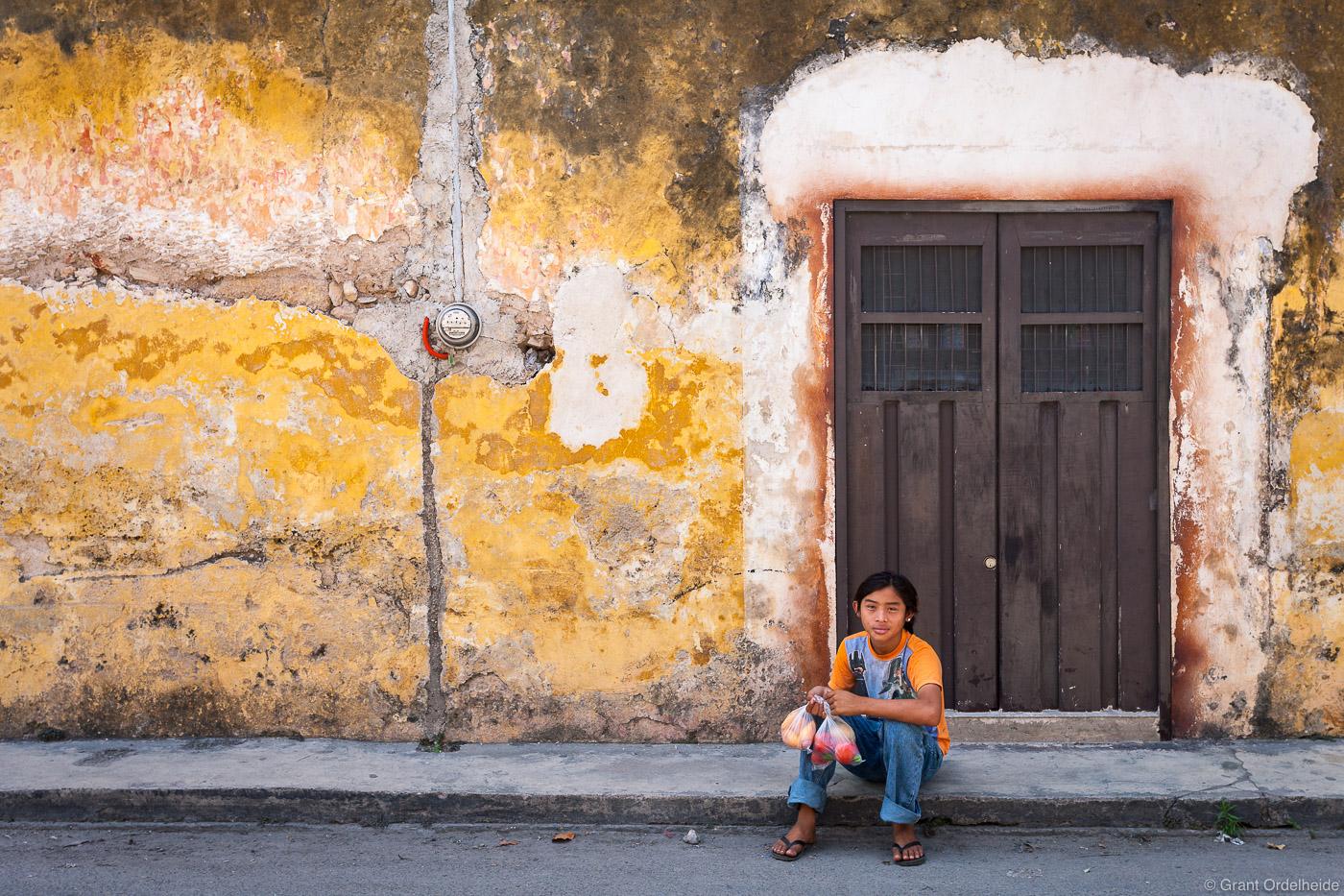A young boyin Izamal Mexico.