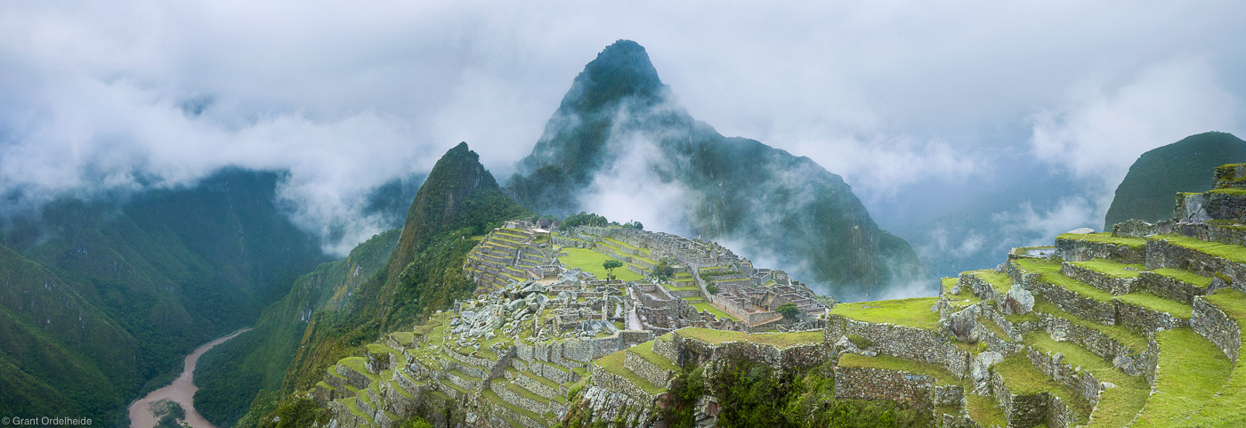 machu, picchu, aguas, calientes, peru, famous, incan, ruins, photo