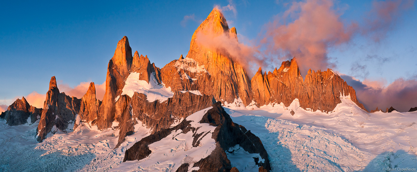 fitzroy, massif, El Chaltén, argentina, sunrise, mount, summit, cerro madsen, views, world