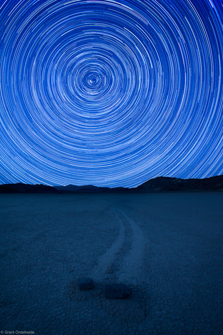 racetrack, stars, death, valley, national park, california, usa, rotating, bizarre, rocks, playa, clay, move, mysterious, photo