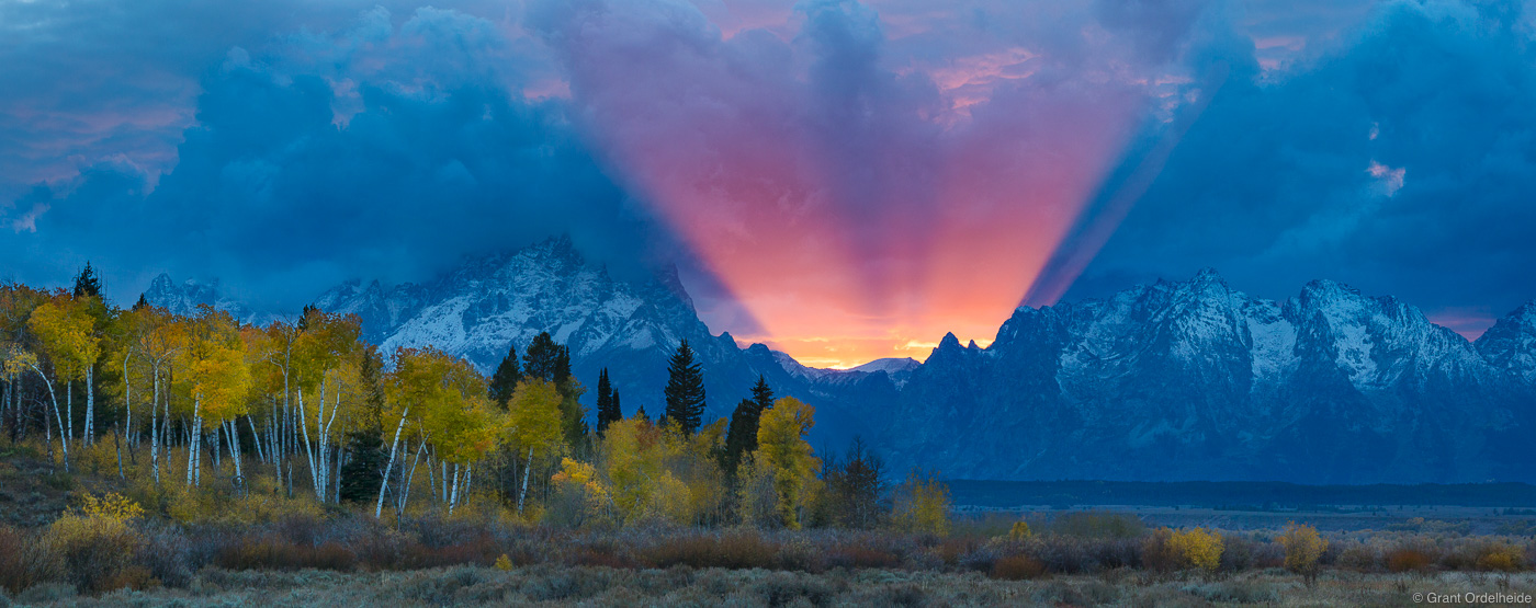 teton, god, beam, grand, national, park, wyoming, amazing, display, light, autumn, jackson