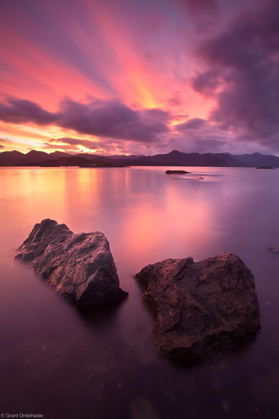 isla, tangbac, sunset, chile, remote, island, puerto, cisnes, chile, photo