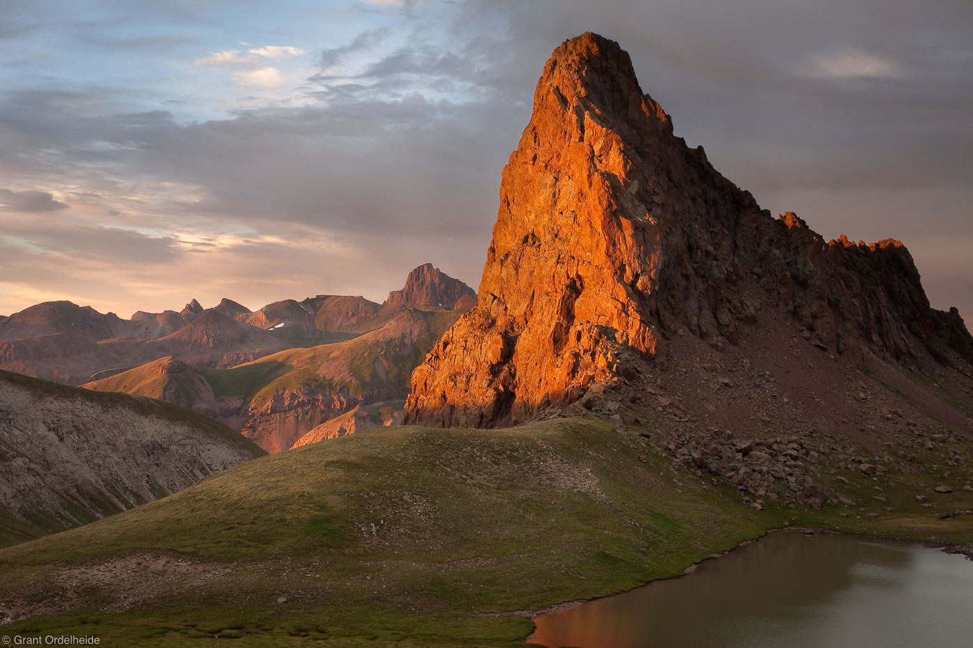 dragons back, uncompahgre, wilderness, colorado, sunset, peak, unnamed, photo