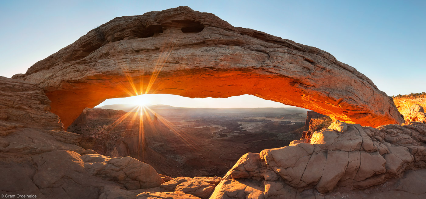 mesa arch, island in the sky, canyonlands, national park, sunrise, beautiful, popular, photo