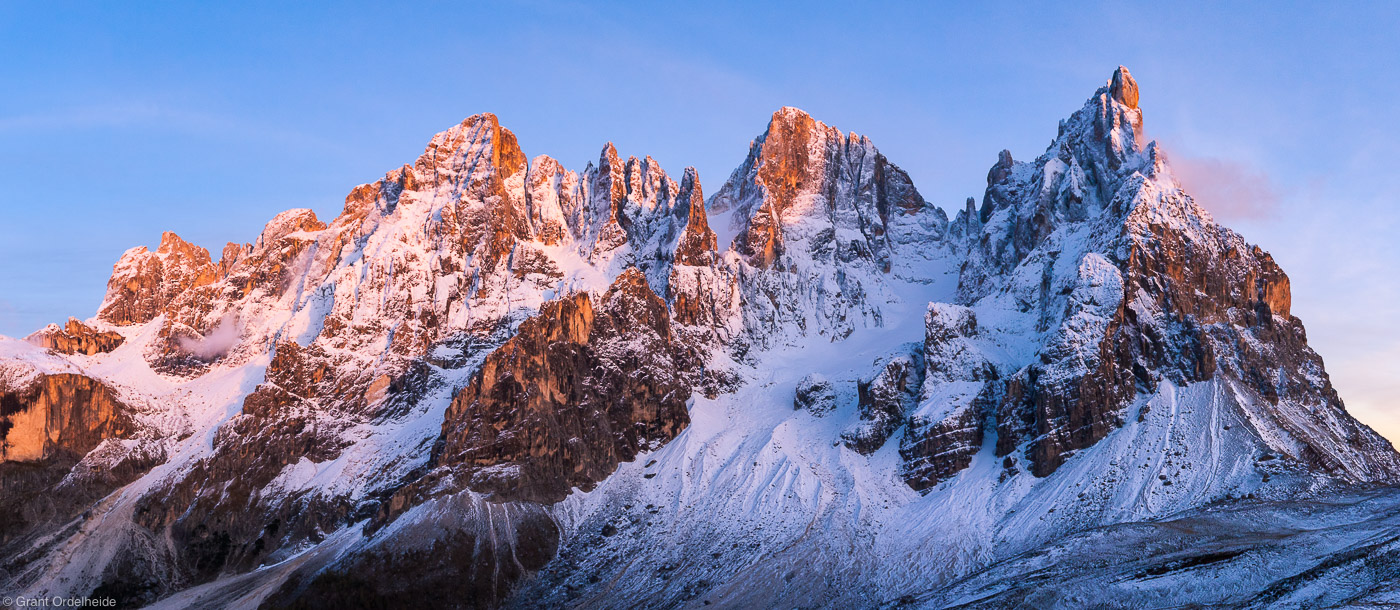 pale di san martino, group, san martino di castrozza, italy, ruggedly, beautiful, rays, sunset, photo